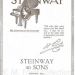 piano vintage poster steinway & sons