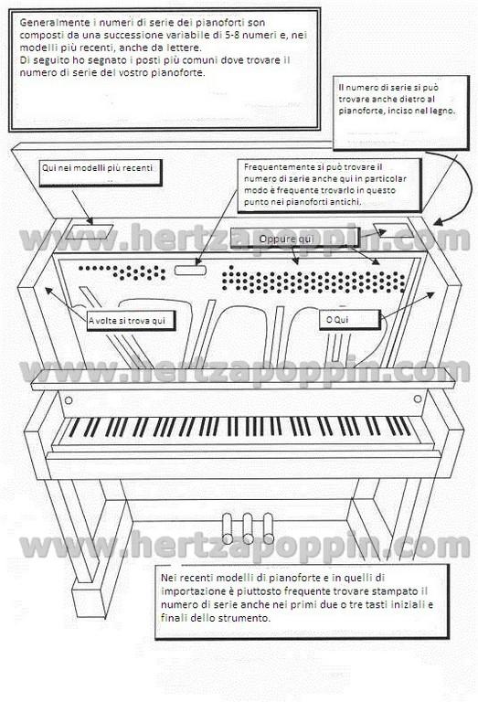 dove trovare il numero di serie pianoforte1
